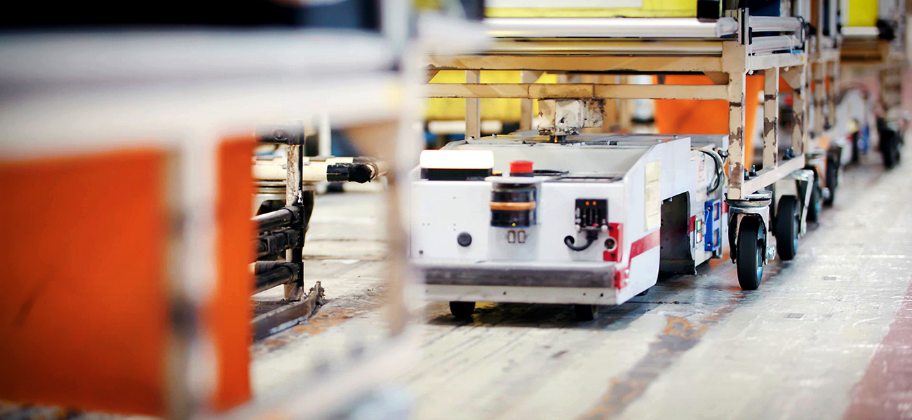 The LEAF's lithium-ion batteries find a home in Nissan's automated guided vehicles